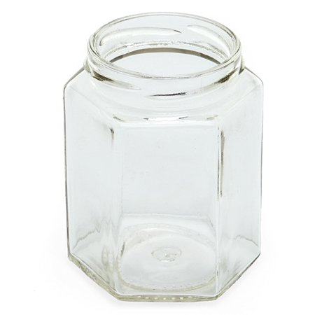 48ea - 1-1/2 Oz Hexagon Glass Jar With Lid by Paper Mart