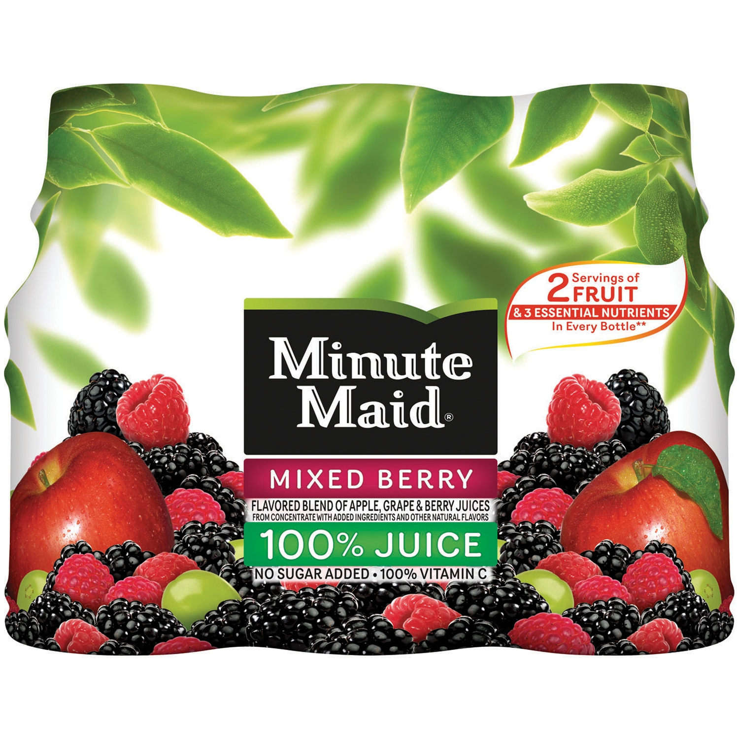 Minute Maid Mixed Berry Juice Drink, 10 fl oz, 6 pack