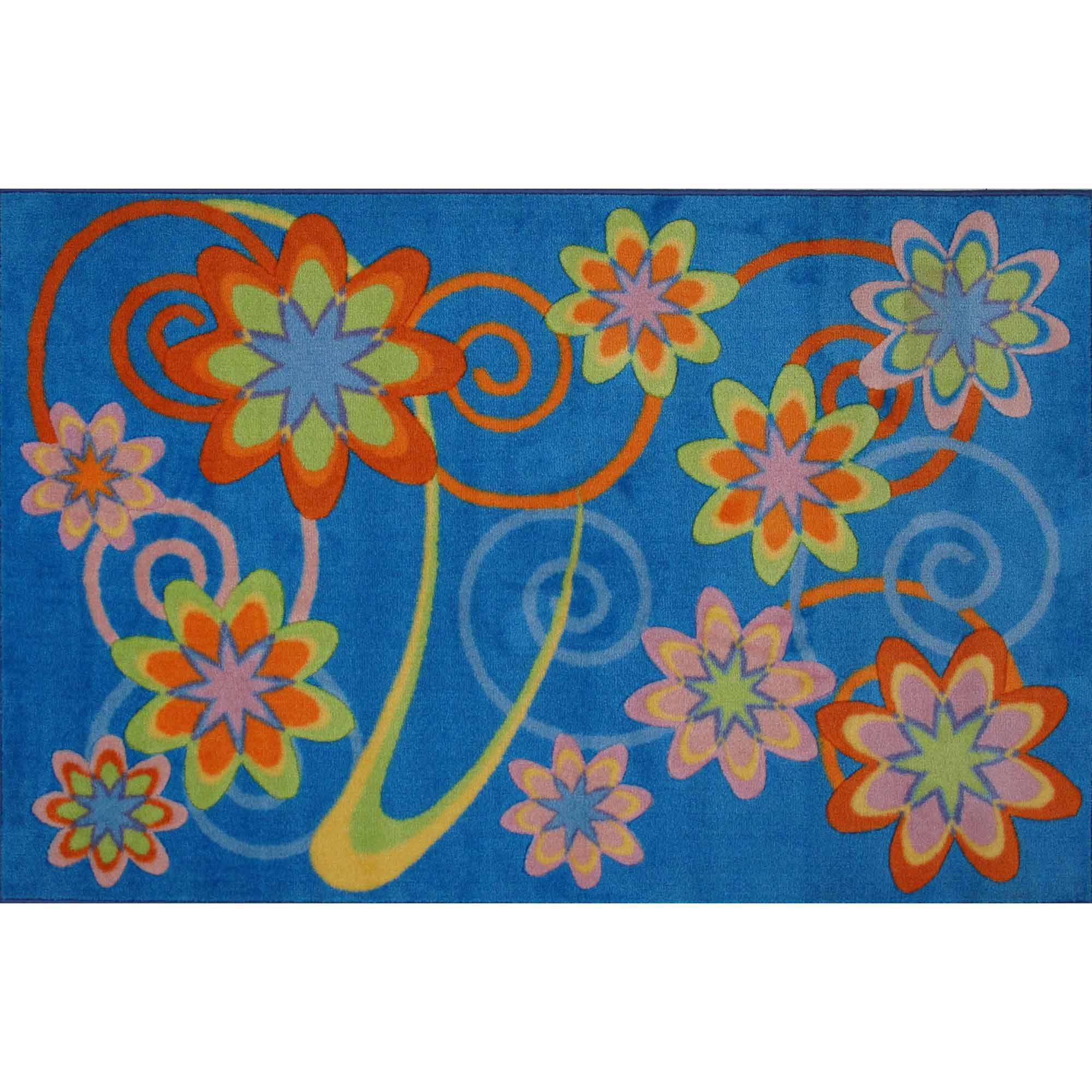 Fun Rugs Flower Burst Kids Rugs