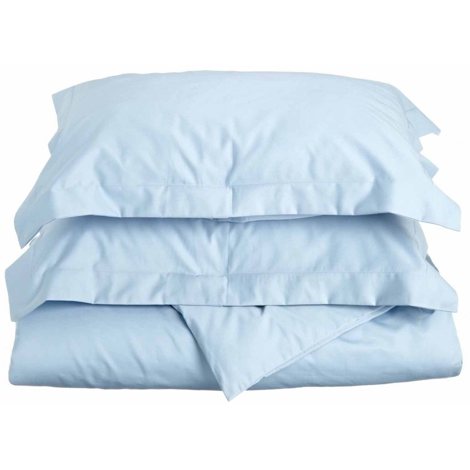 Superior 600 Thread Count Wrinkle Resistant Cotton Blend Solid Duvet Cover Set with Sham