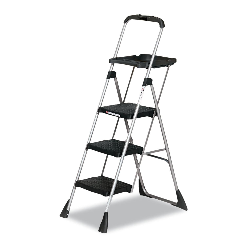 Cosco Max Work Steel Platform Ladder 22w X 31d X 55h 3