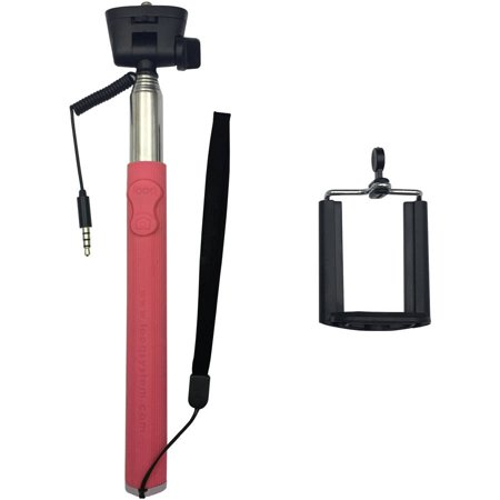 looq dg wired shutter selfie stick for apple android phones assorted c. Black Bedroom Furniture Sets. Home Design Ideas