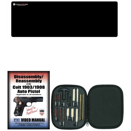 AGI DVD Disassembly & Reassembly COLT 1903 / 1908 AUTO PISTOL + Ultimate  Arms Gear Gunsmith & Armorer's Cleaning Bench Gun Mat + 17pc Handgun Pistol