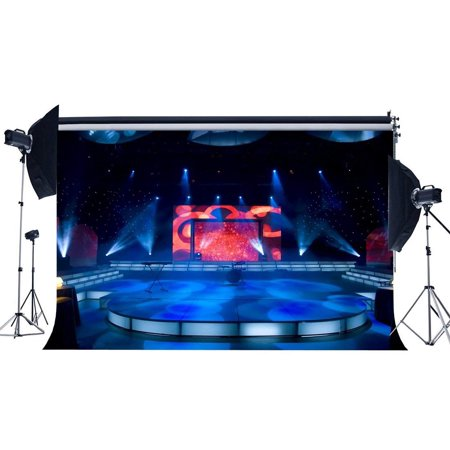ABPHOTO Polyester 7x5ft Luxurious Stage Show Backdrop Band Concert Backdrops Bokeh Shining Stage Lights Lantern Interior Photography Background for Vocal Concert Wedding Ceremony Photo Studio Props ()