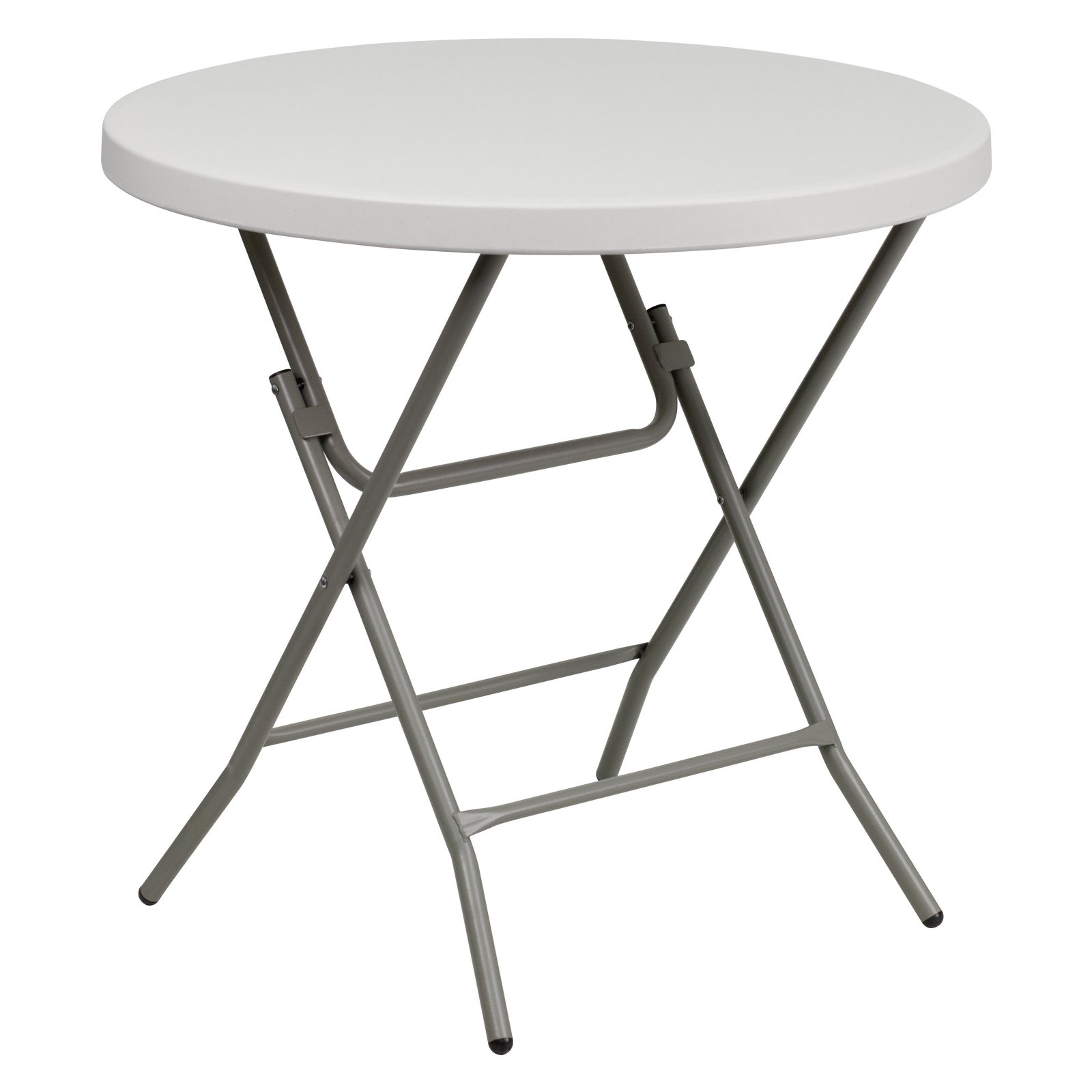 Flash Furniture 32'' Round Granite White Plastic Folding Table by Flash Furniture