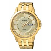 Citizen Men's BF2013-56P Gold Tone Stainless Steel Day Date Analog Dress Watch