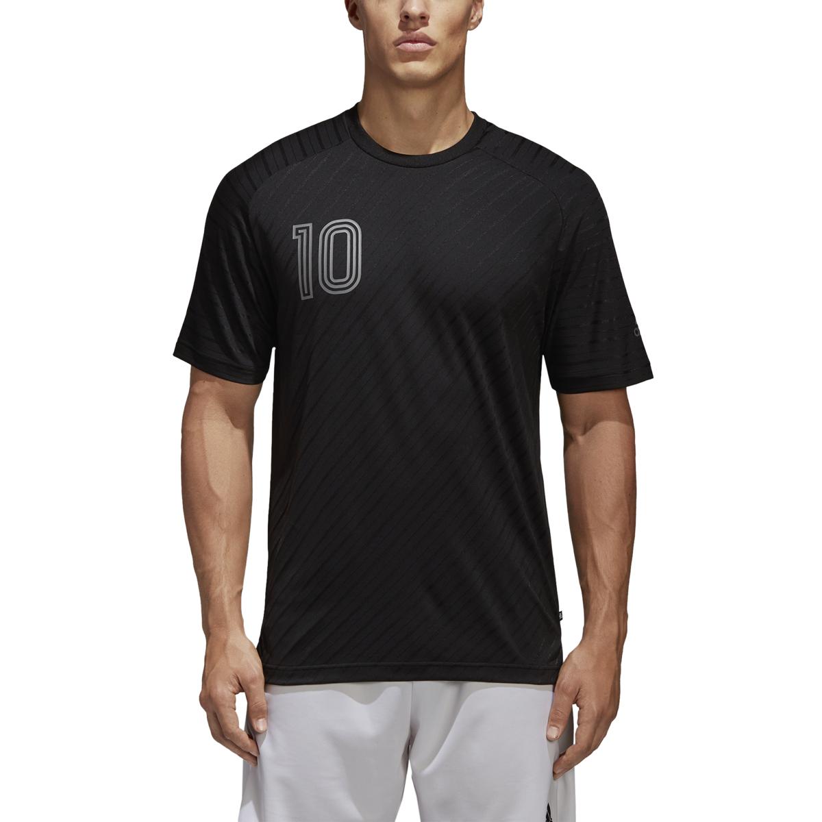 adidas Men's Tango Player Icon climalite Soccer Jersey (Black, XL ...