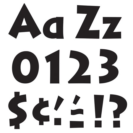 READY LETTERS BLACK 4 VENTURE UPPERCASE & LOWERCASE COMBO