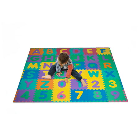 Foam Floor Alphabet Mat 96 pcs with Number Puzzle Mat by Hey!