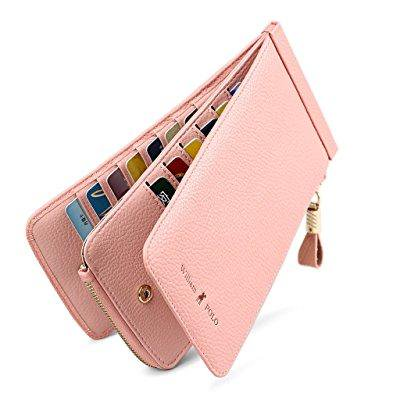 65de0ae0139 ... william polo women s genuine leather zipper slim wallet long style  clutch bag handbag multi credit card