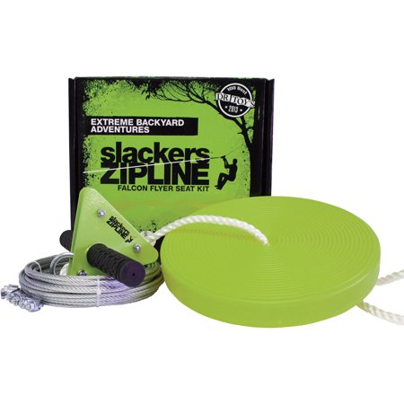 Slackers 40' Falcon Series Zipline Kit with Seat - Slackers Zipline