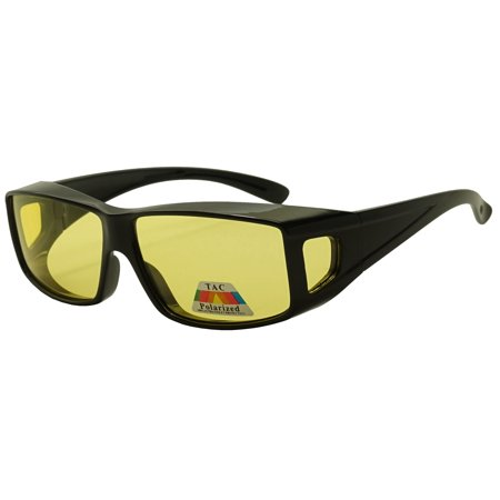 Night Driving Polarized Full View Fit Over Sunglasses to Wear Over Prescription (Dkny Prescription Sunglasses)