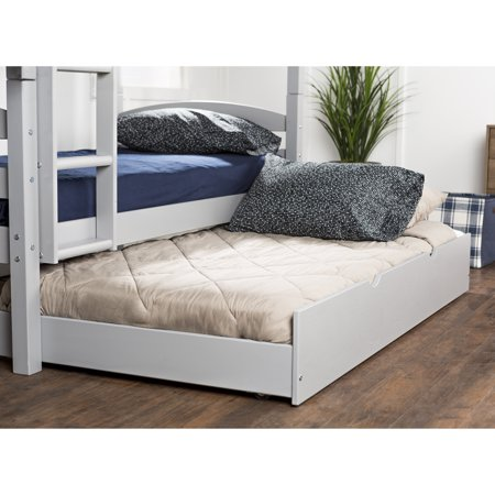 Manor Park Solid Wood Twin Trundle Bed - Grey