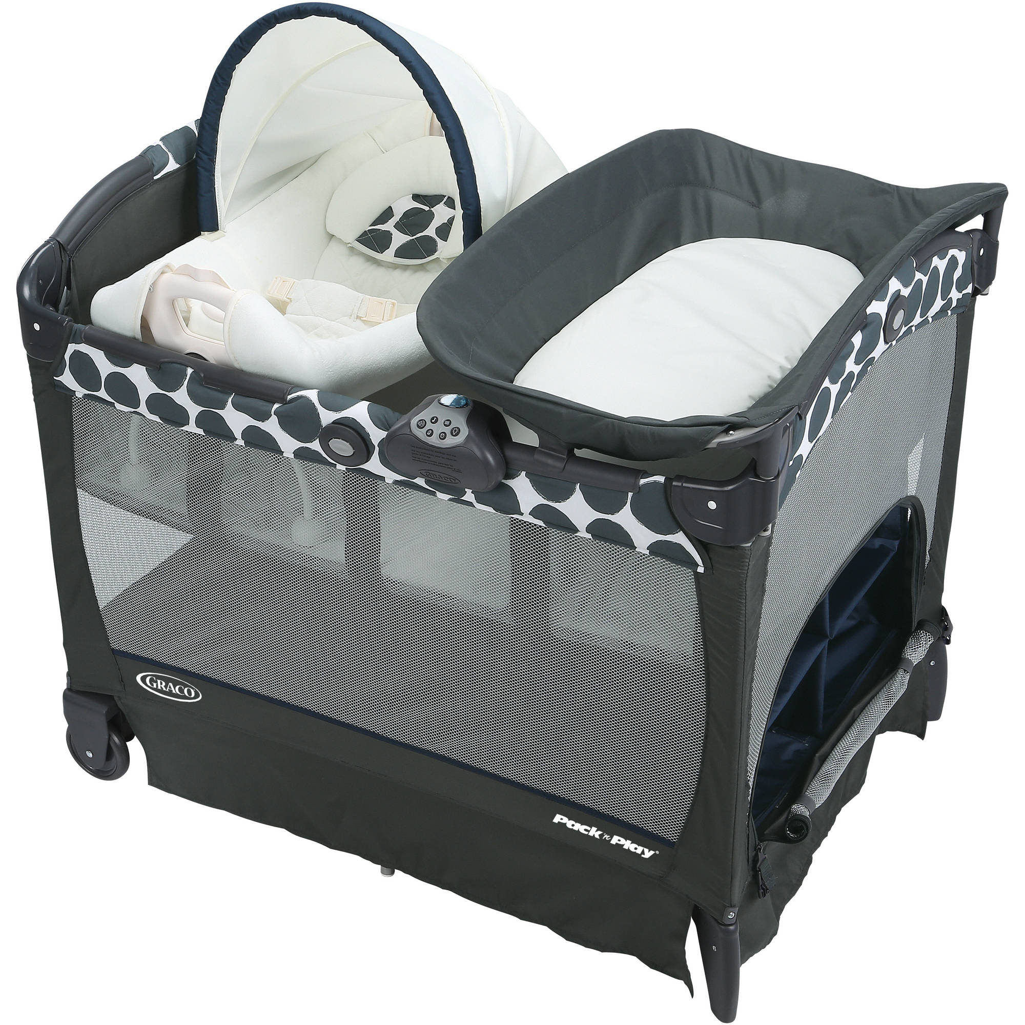 Graco Pack 'n Play Playard with Cuddle Cove Removable Seat, Navy Motif