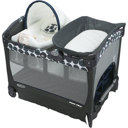 Graco Pack N Play Playard With Cuddle Cove Removable Seat  Navy Motif