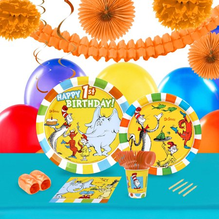 Dr Seuss 1st Birthday 16 Party Pack (Dr Seuss Party Supplies 1st Birthday)