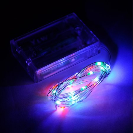 20 LED Fairy String Light Battery Operated Copper Wire, Multicolor Non Blinking