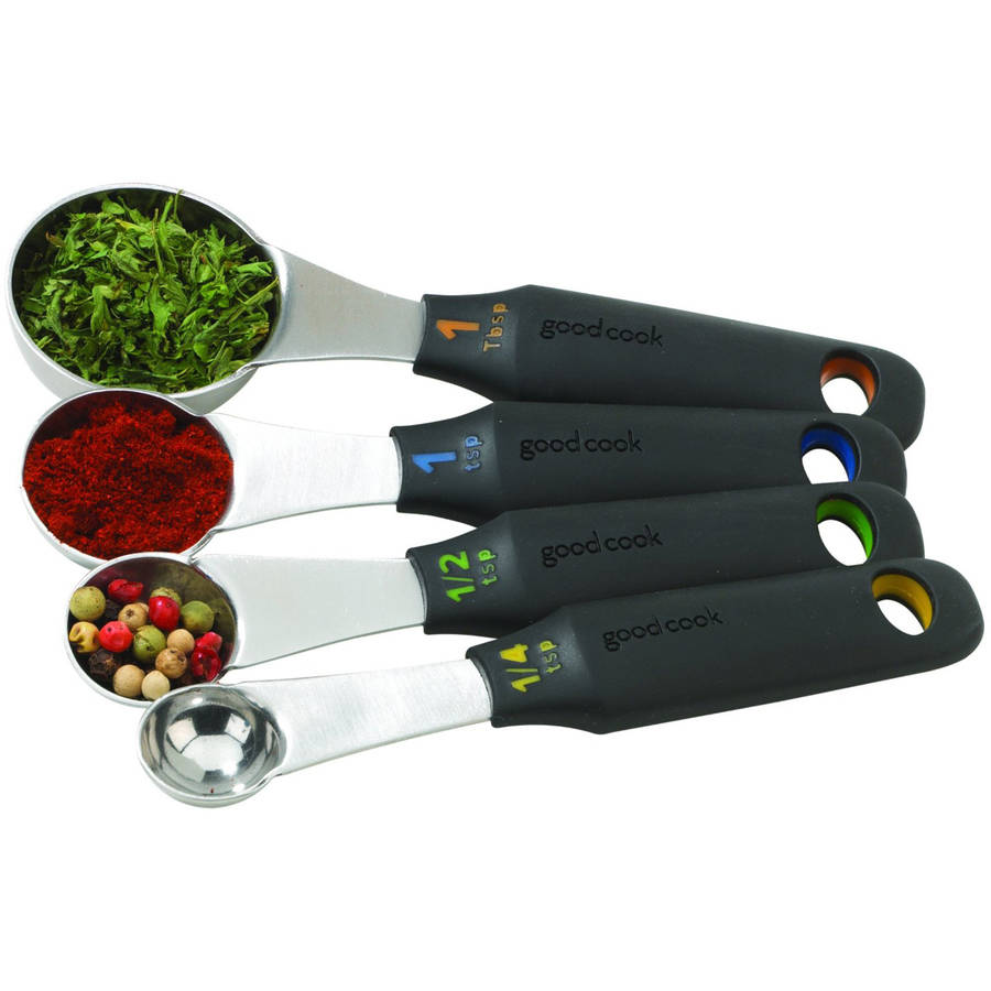 Good Cook Touch 4-Piece Stainless Steel Measuring Spoons Set