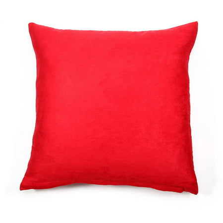 HERCHR Square Throw Pillow Cases Protectors Cushion Covers for Sofa, Home Decorative Sofa Pillow Cover, Red, 45 x 45 cm/18 x 18 in ()
