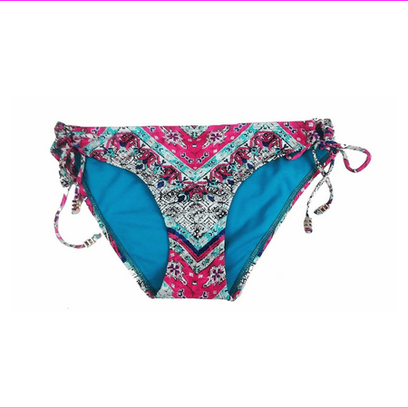 Bar III Solid Side-tie Adjustable Hipster Bikini in Mayan Revival (Xtra-Small)