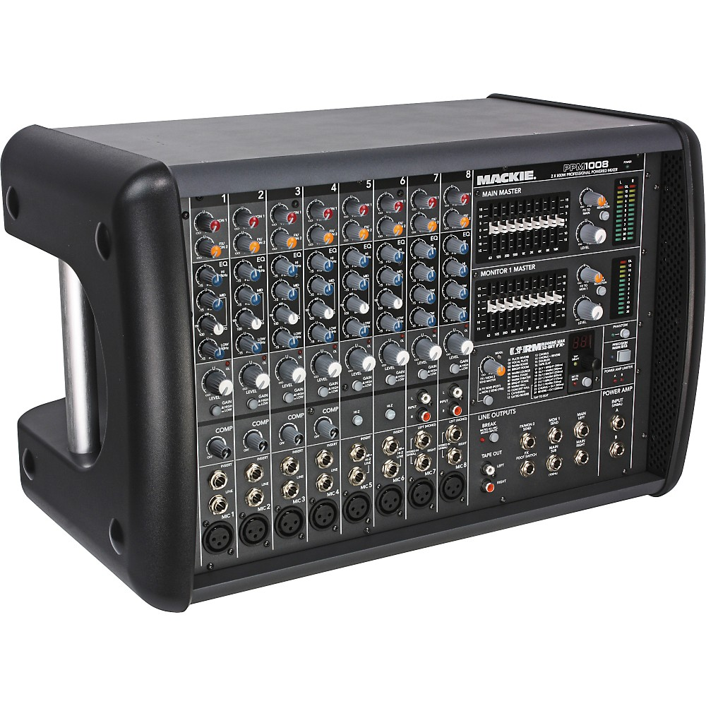 Mackie PPM1008 8-Channel Ultra-Light Professional Powered Mixer (1,600-Watt)