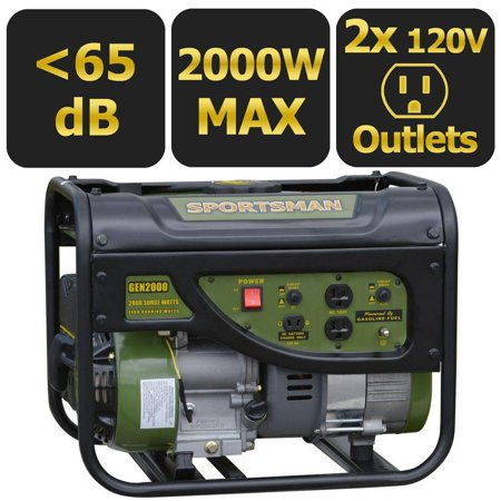 Sportsman Gasoline 2000W Portable Generator (Best Portable Home Generator Reviews)