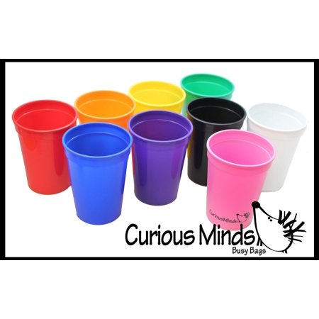 9 Color Sorting Cups with Tong for Preschool and Early Childhood Education - Color learning toy - Sorting Tray