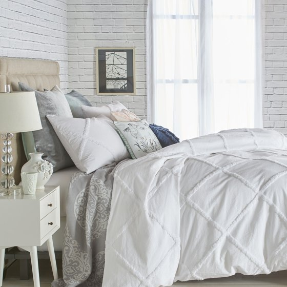 Chenille Lattice Duvet Cover By Peri Home