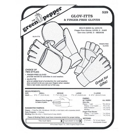 Finger Free Gloves Sewing Pattern