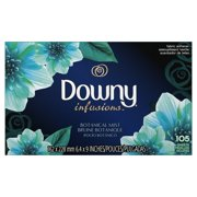 Downy Infusions Fabric Softener Dryer Sheets, Refresh, Birch Water & Botanicals, 105 count