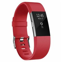 For Fitbit Charge 2 Bands Replacement Bands for Women,Silicone Wristbands Replacement with Metal Buckle for Fitness Tracker Activity Sport Band Accessories Small,Red