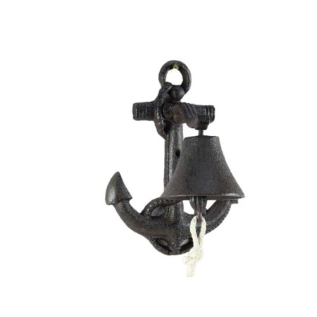 Rustic Cast Iron Wall Mounted Anchor Bell 8