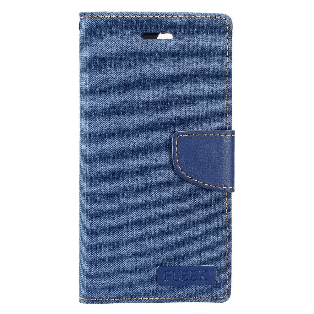 Insten Folio Leather Fabric Stand Card Case w/Photo Display For Apple iPhone 8 / iPhone 7 4.7 inch - Blue - image 3 of 3