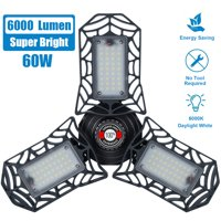 LED Garage Light6000LM 110V E26 Super Bright Adjustable LED Shop Lights for Garages, Workshop, Workbench, Barn, Warehouse, Full Area, Basement