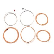 Suzicca Acoustic Guitar Strings Hexagon Alloy Wire Phosphor Wound Corrosion Resistant 6 Strings Set