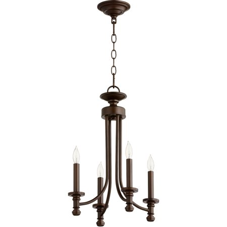 Chandeliers 4 Light With Oiled Bronze Finish Candelabra Base Bulbs 14 inch 240 Watts