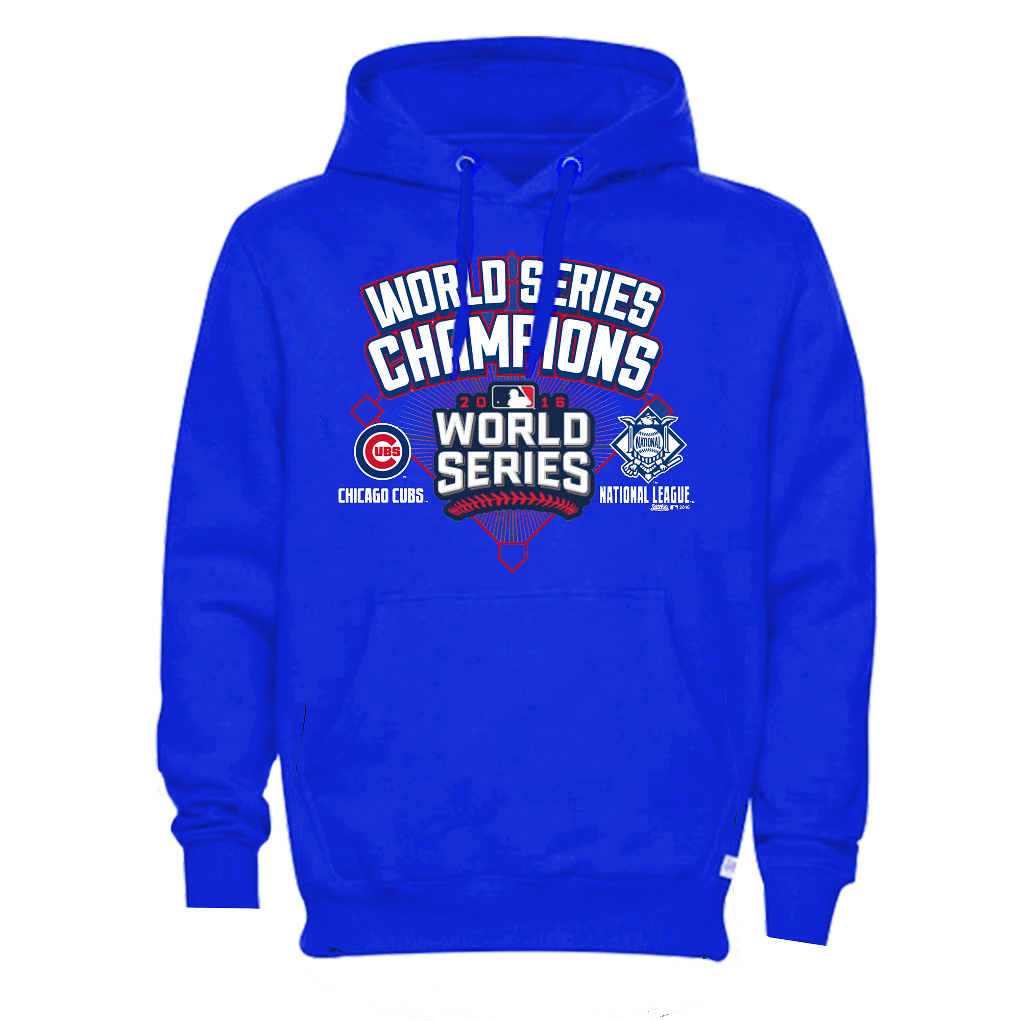 Chicago Cubs Stitches 2016 World Series Champions Diamond Pullover Hoodie - Royal