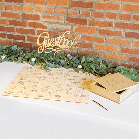 Personalized Wedding Guestbook Puzzle (Personalized Photo Puzzle)