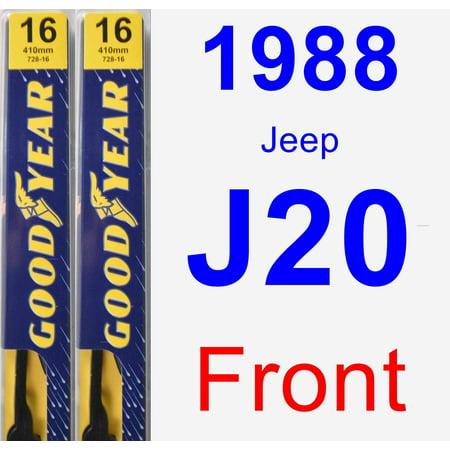 1988 Jeep J20 Wiper Blade Set/Kit (Front) (2 Blades) -