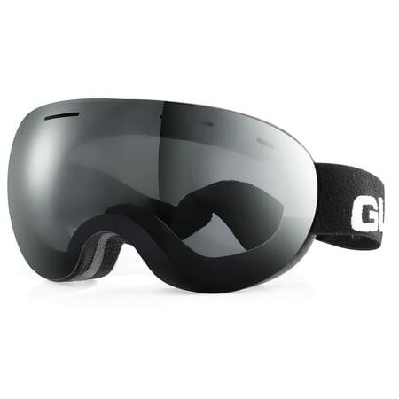 GLX Ski Goggles Adult Snowboard Skate UV Protection Dual Visor Detachable Lens