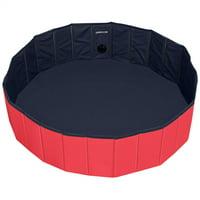 Yaheetech Foldable Pet Pool Dogs/Cats/Kids Bath Tub PVC Water Pond Portable Wash Tub for Garden/Beach/Yard/Home Use