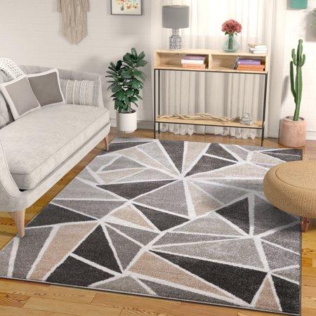 Well Woven Ventana Triangles Grey Geometric Modern