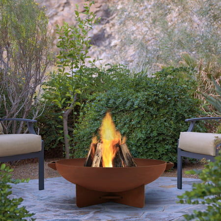 Anson Fire Bowl in Rust by Real Flame
