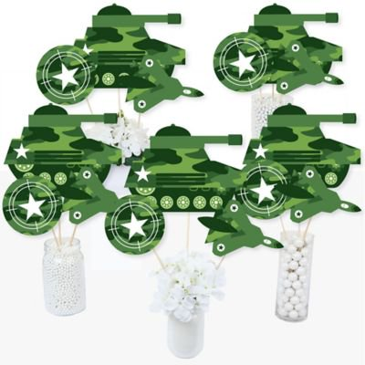 Camo Hero - Army Military Camouflage Party Centerpiece Sticks - Table Toppers - Set of 15 ](Army Party)