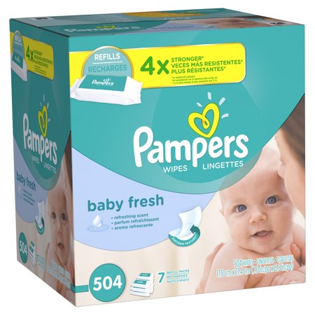 Pampers Baby Fresh Wipes  Refills  7 Packs Of 72  504 Count