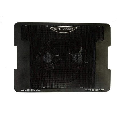 LB1 High Performance Cooling Pad Cooling System Adjustable-Angle with 2 Fans for Dell Studio XPS 15 Laptop, i7 2630QM, 6GB