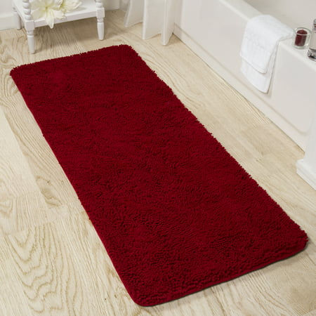 Somerset Home Memory Foam Somerset Homeag Bath Mat 2-feet by 5-feet - Burgundy