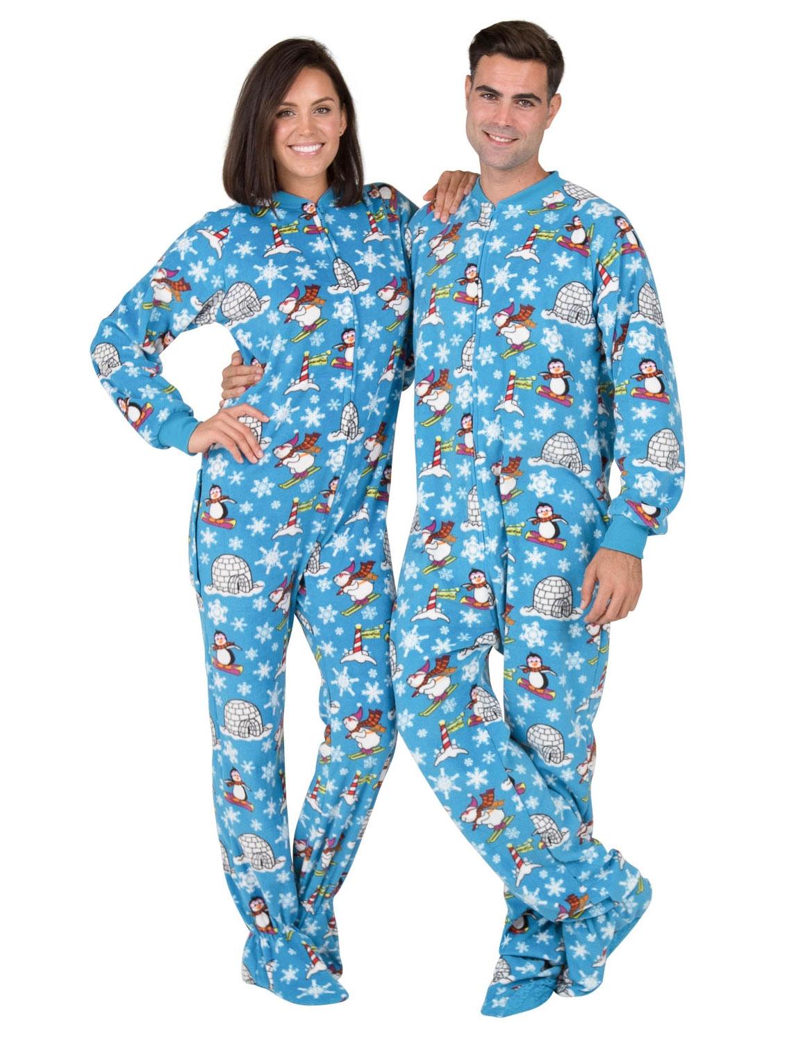 1224af974 Footed Pajamas - Footed Pajamas - Winter Wonderland Adult Drop Seat ...