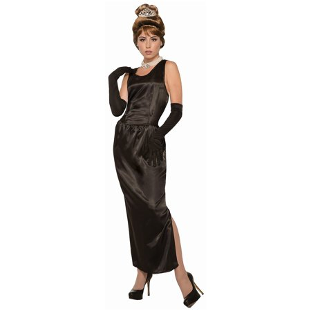 Womens Breakfast At Tiffany'S Gown W/Gloves Costume Halloween Costume Accessory - Breakfast At Tiffany's Costume