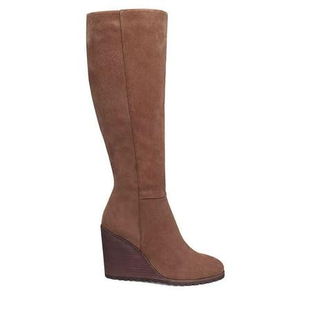 4d95f10f83d Splendid - Suede Knee-High Wedge Boots - Walmart.com